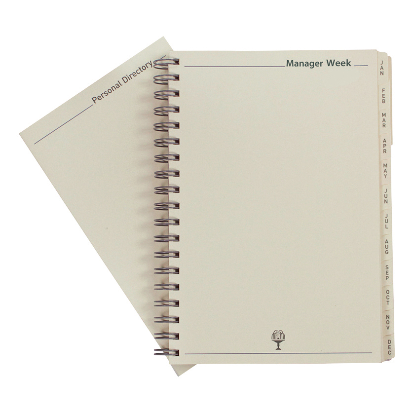 Collins 2019 Elite Manager Diary Refill Week to View Wirobound 190x260mm Black Ref 1190R 2019