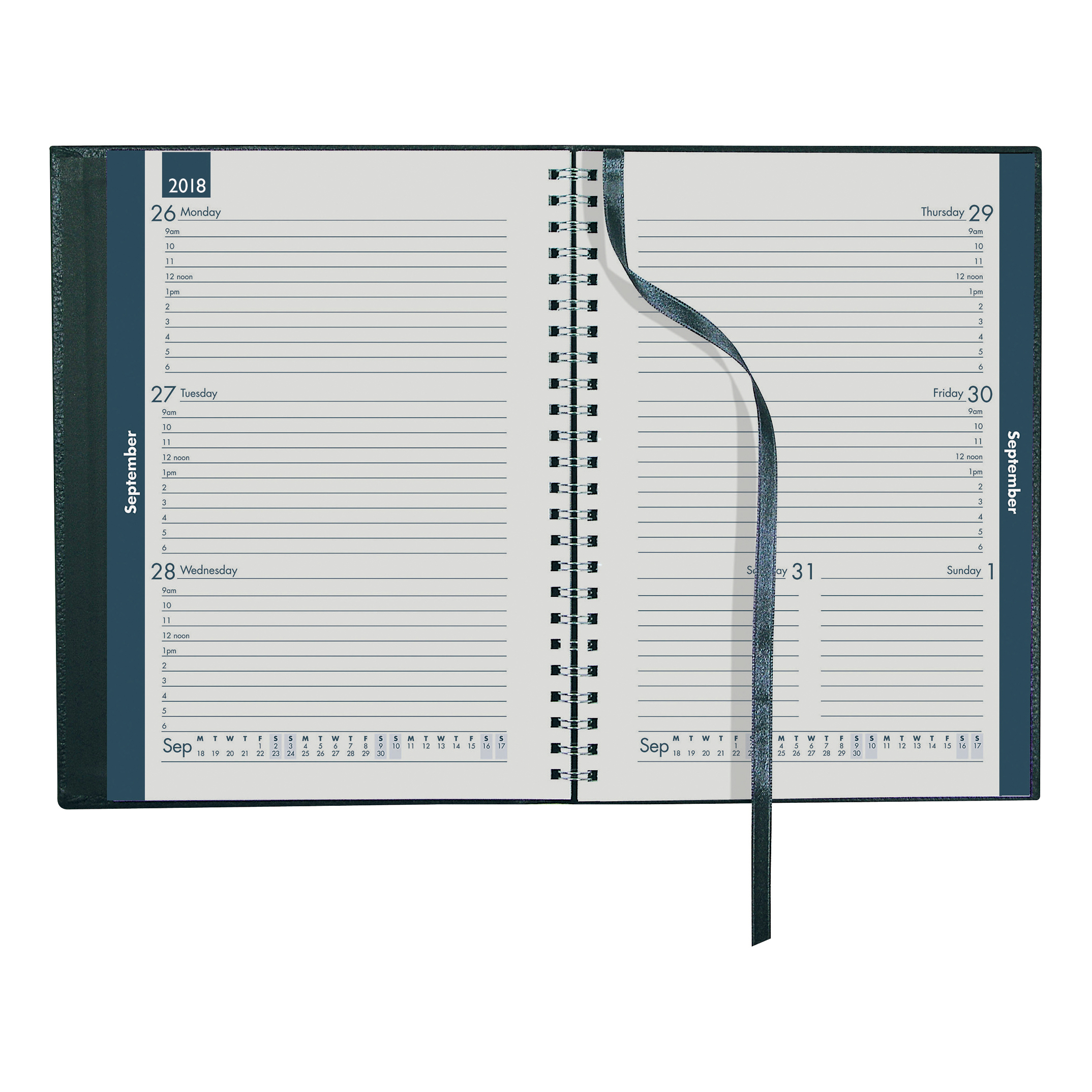 Collins 2018/19 Metro Mid-year Diary Week to View A5 210x148mm Assorted Ref MD53M 2019