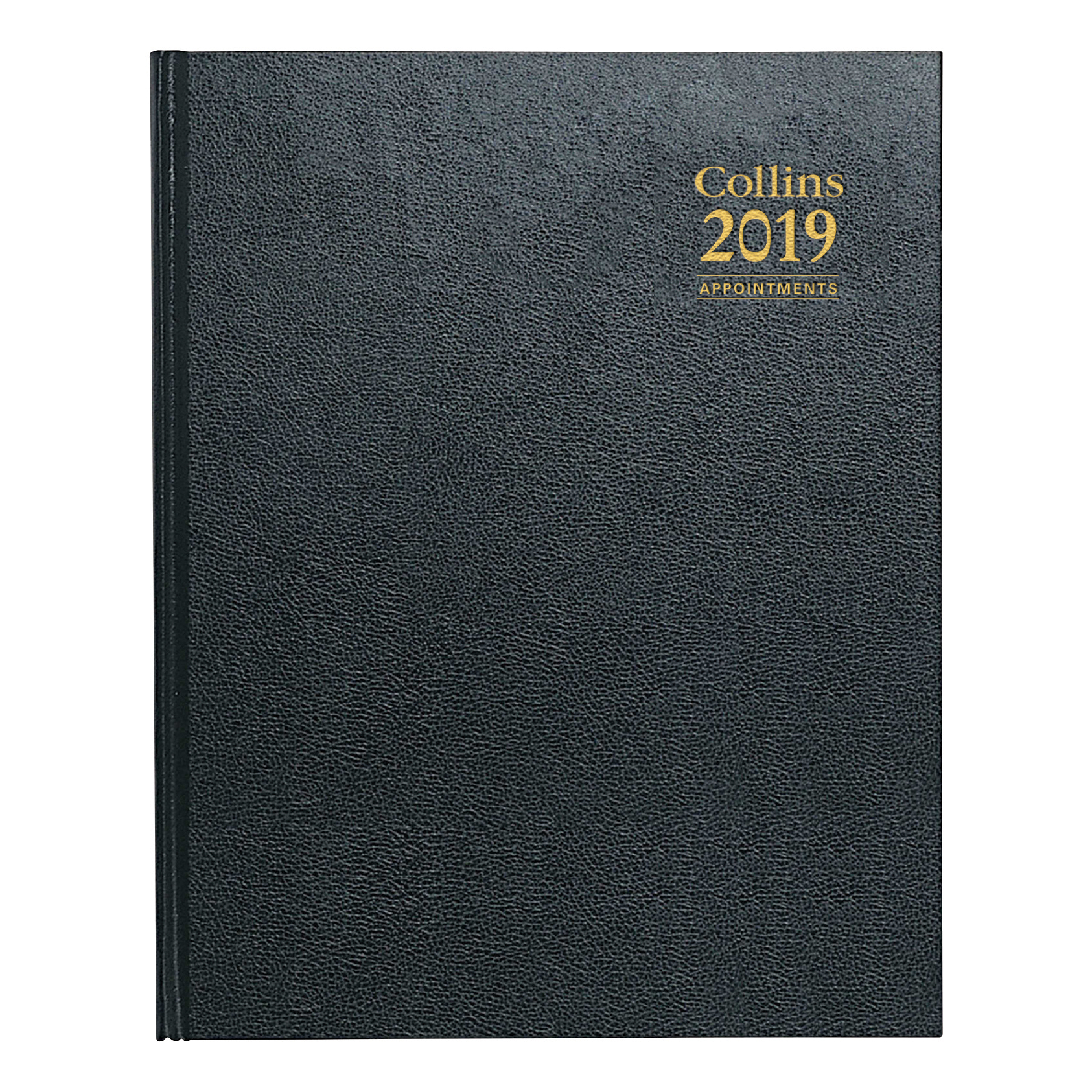 Collins 2019 Quarto Desk Diary Week to View Sewn Binding 190x260mm Assorted Ref A36 2019