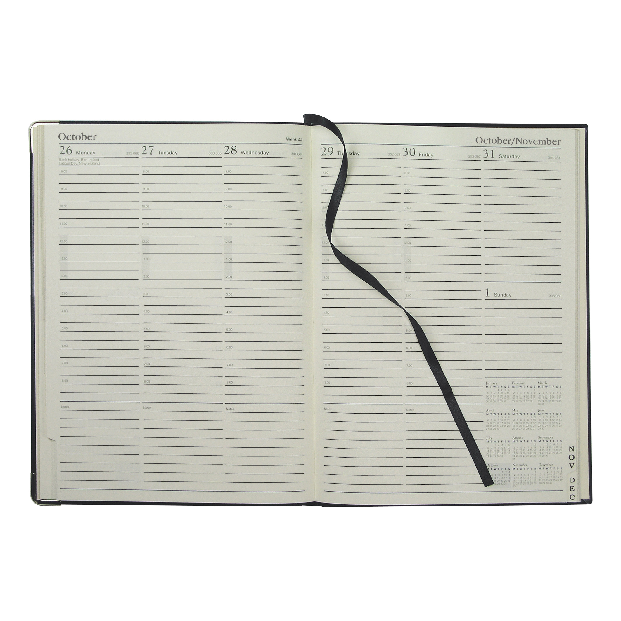 Collins 2019 Classic Compact Diary Week to View Sewn Binding 190x260mm Black Ref 1210V 2019