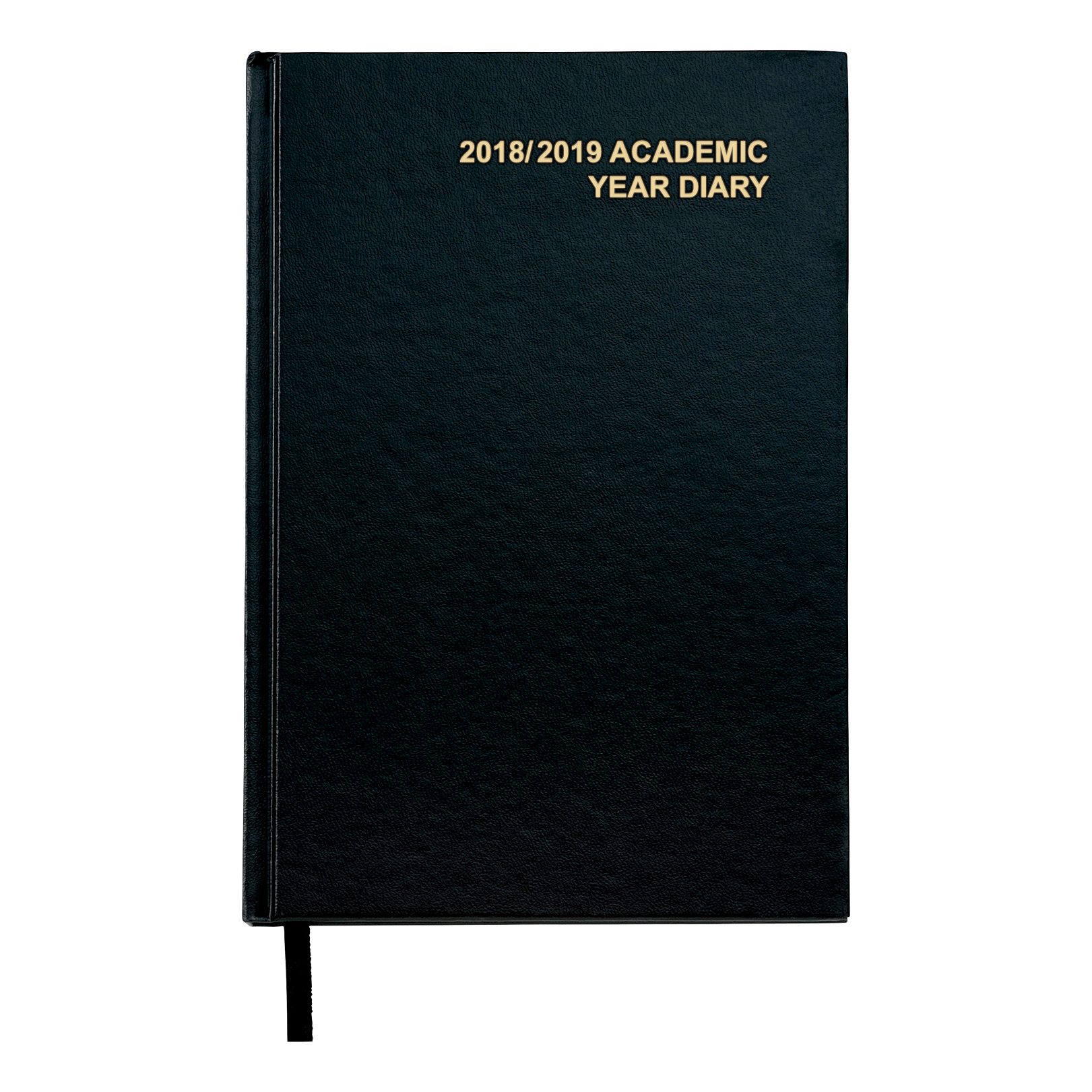 Image for 5 Star Office 2018/19 Academic Mid-year Diary Week to View Vinyl Coated Board A5 210x148mm Black