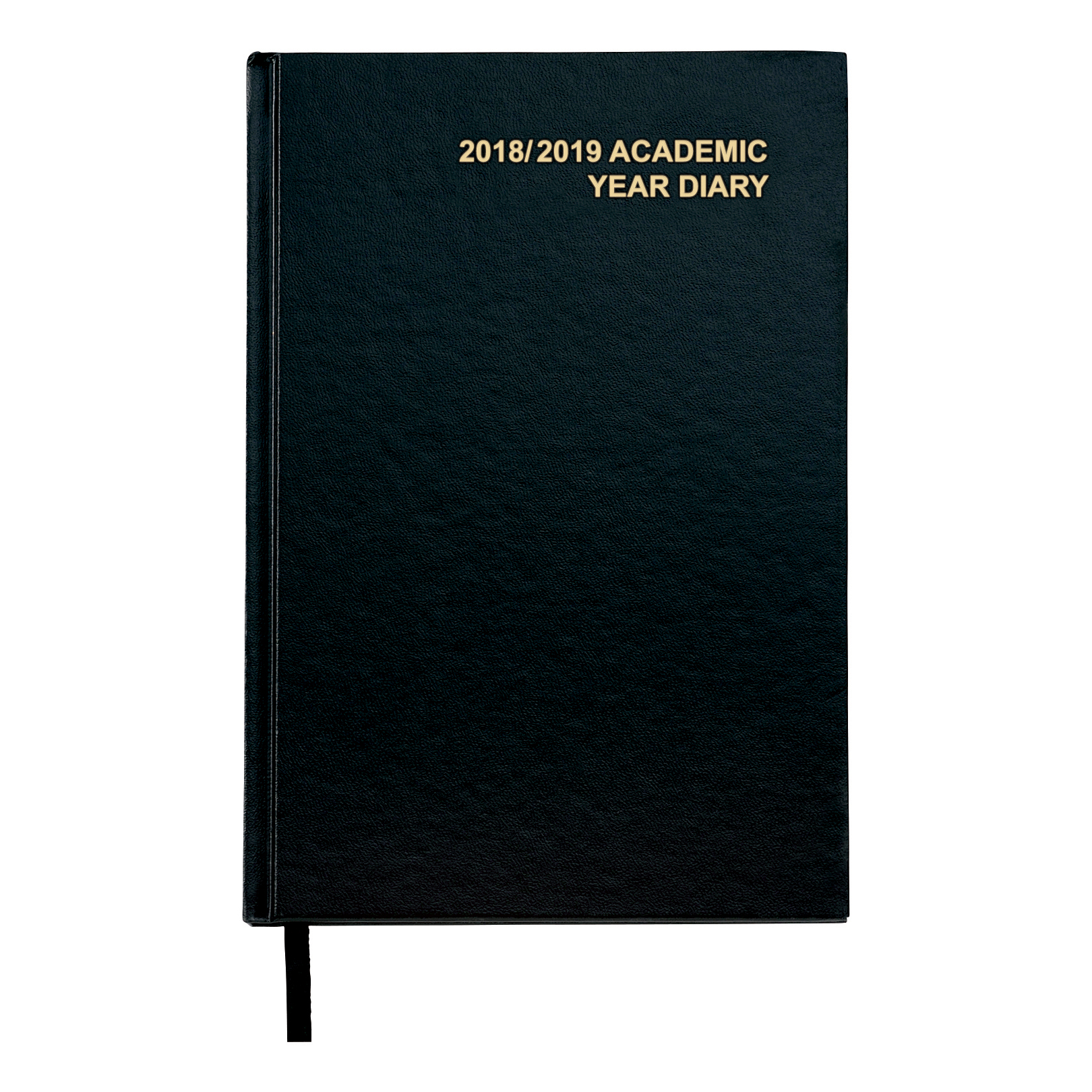 Image for 5 Star Office 2018/19 Academic Mid-year Diary Day to Page Vinyl Coated Board A5 210x148mm Black