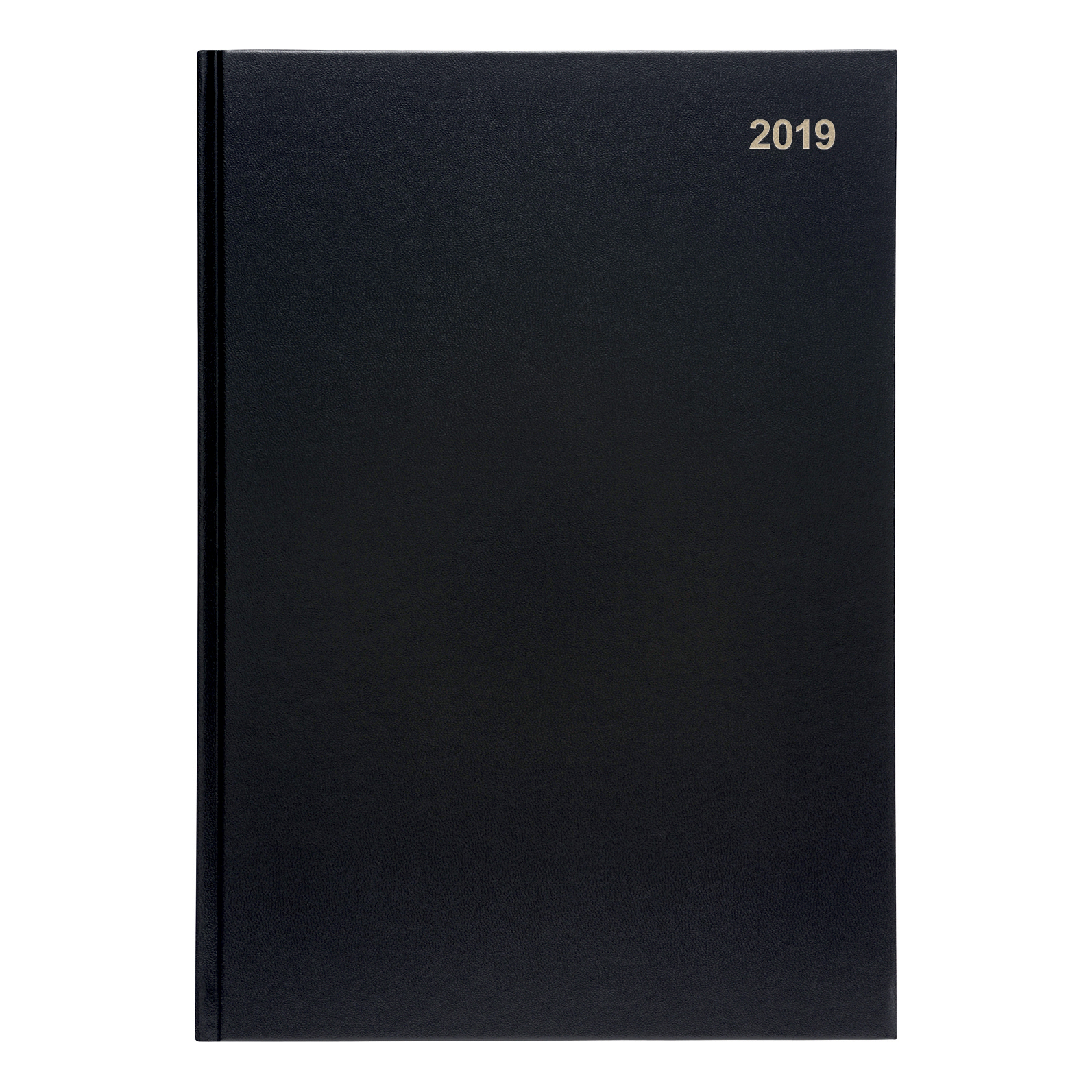 5 Star Office 2019 Diary Day to Page Casebound and Sewn Vinyl Coated Board A4 297x210mm Black