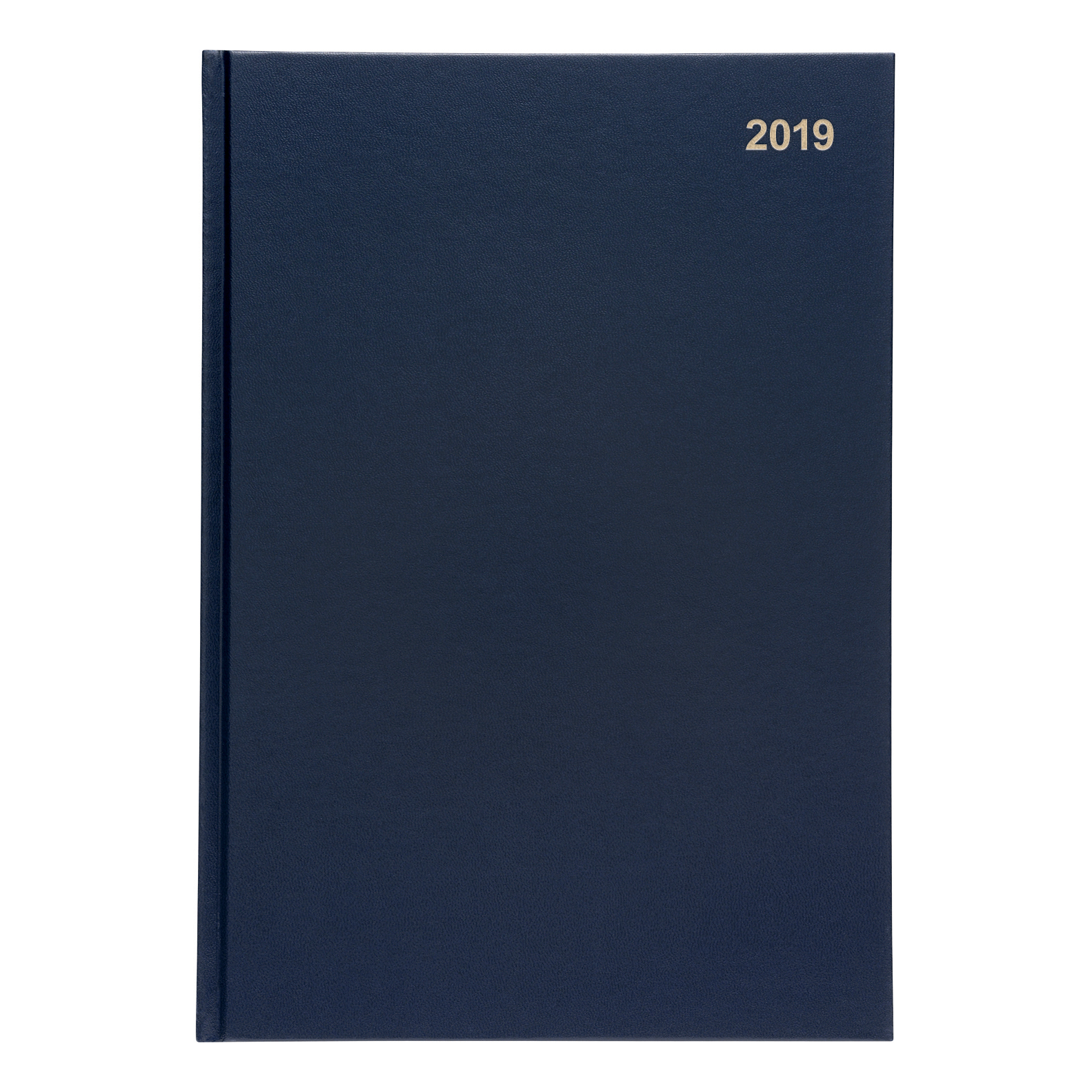 5 Star Office 2019 Diary Week to View Casebound and Sewn Vinyl Coated Board A4 297x210mm Blue