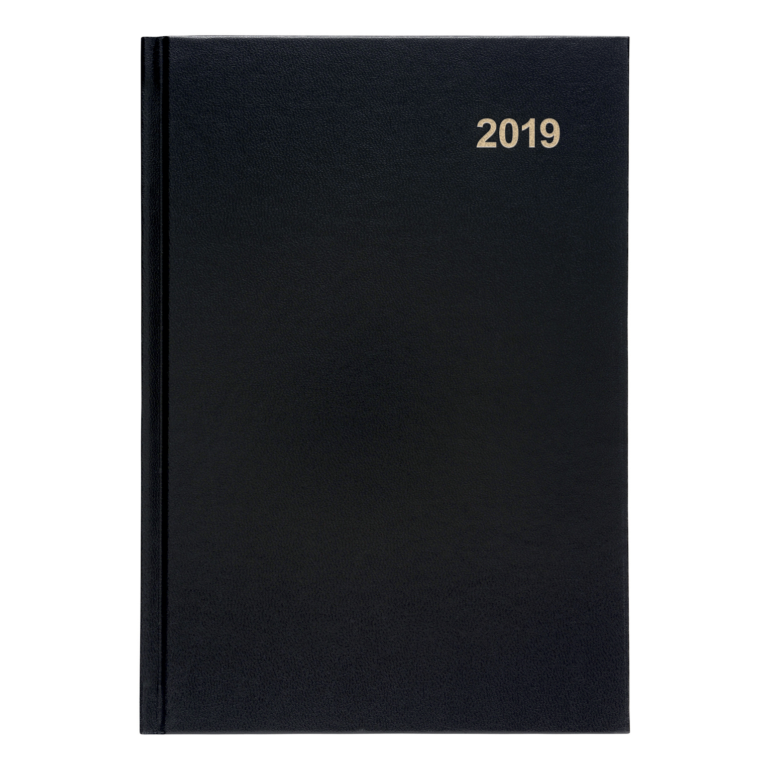 5 Star Office 2019 Diary Two Days to Page Casebound and Sewn Vinyl Coated Board A5 210x148mm Black