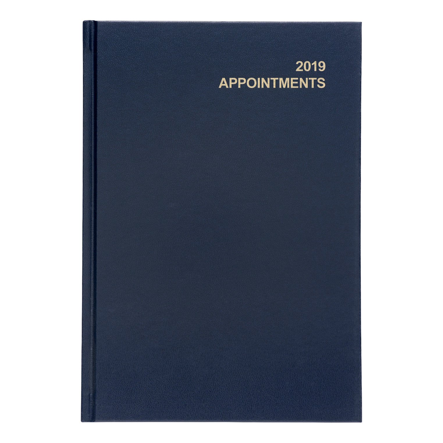 5 Star Office 2019 Appointment Diary Day to Page Casebound and Sewn Vinyl Coated Board A5 210x148mm Blue