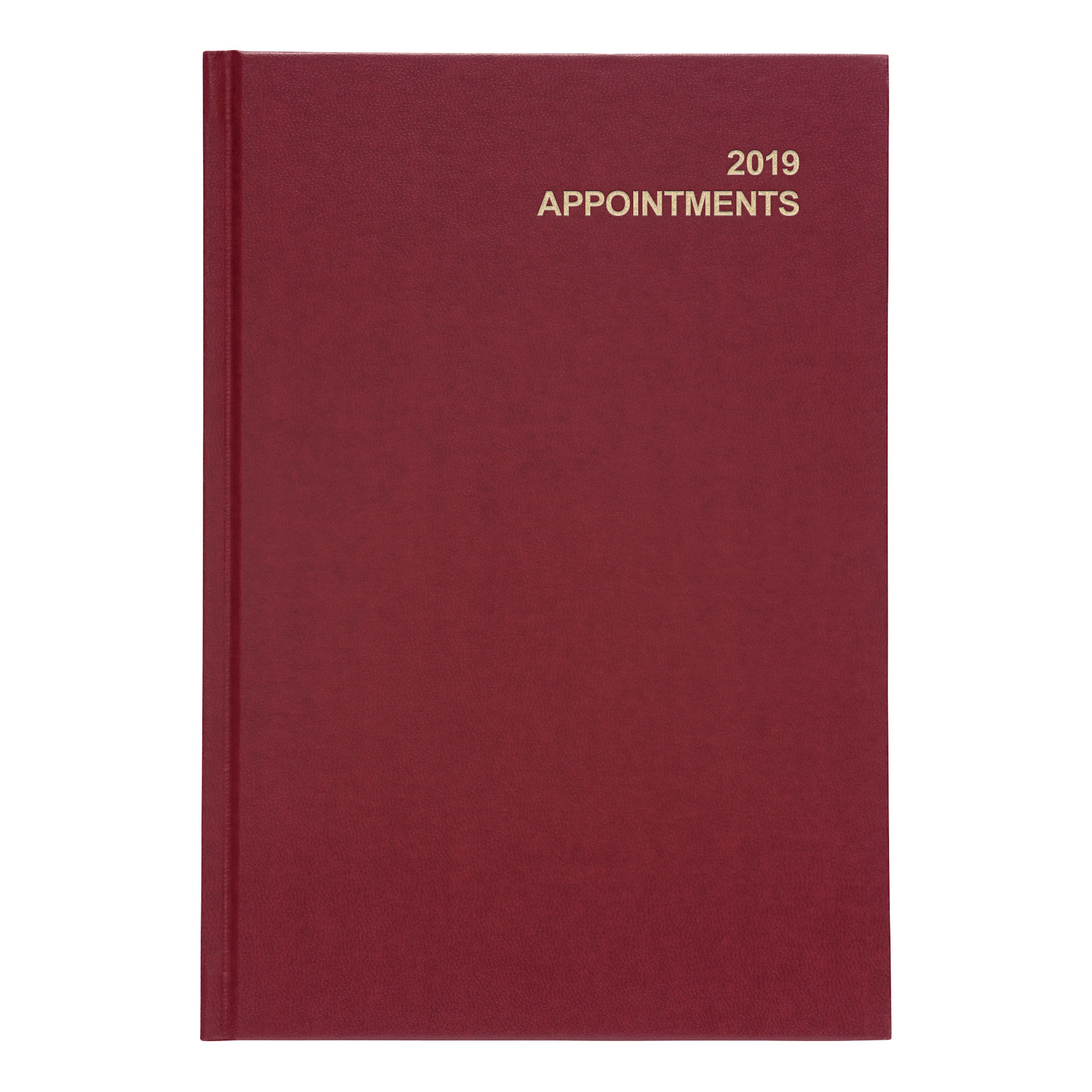 5 Star Office 2019 Appointment Diary Day to Page Casebound and Sewn Vinyl Coated Board A5 210x148mm Red