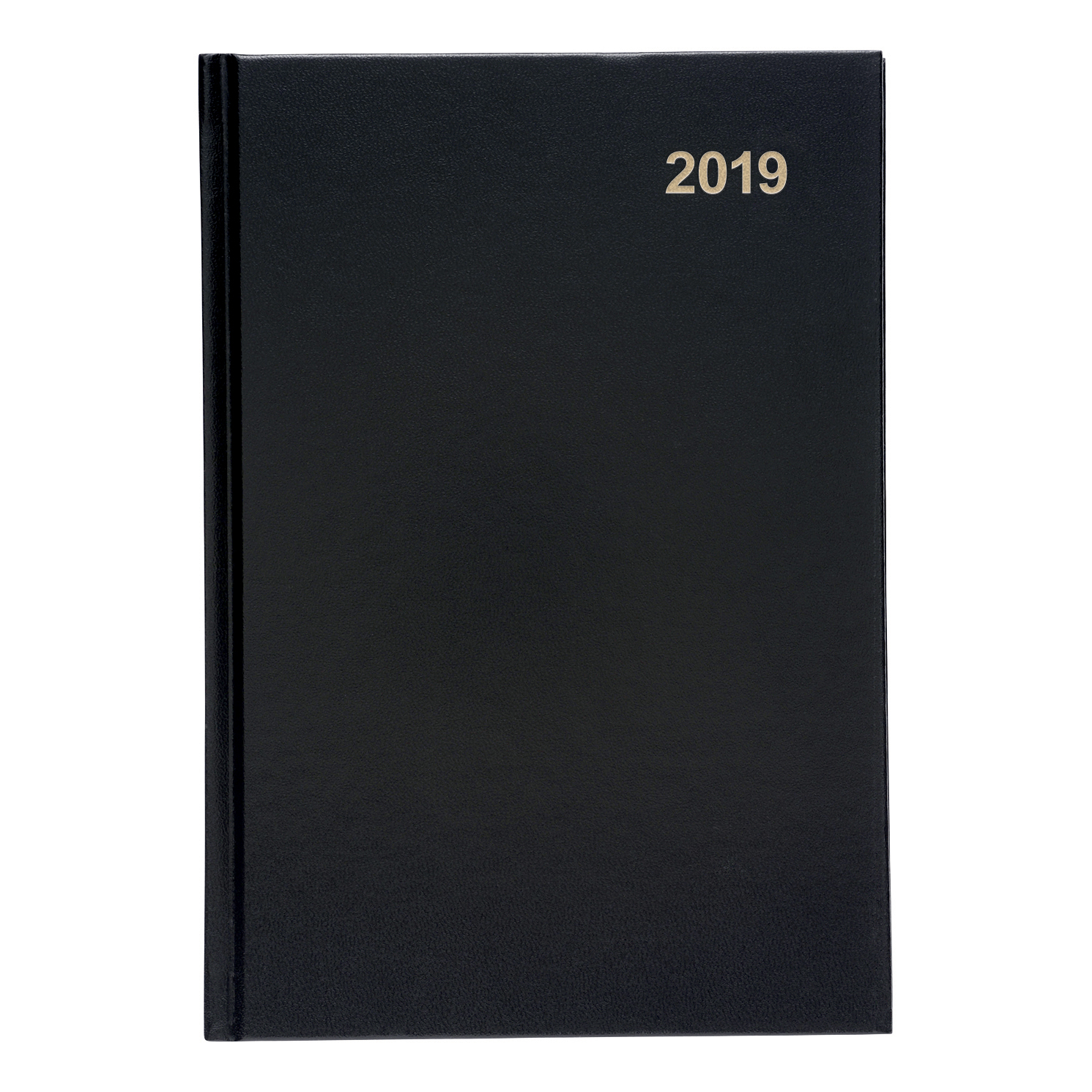 Image for 5 Star Office 2019 Diary Week to View Casebound and Sewn Vinyl Coated Board A5 210x148mm Black