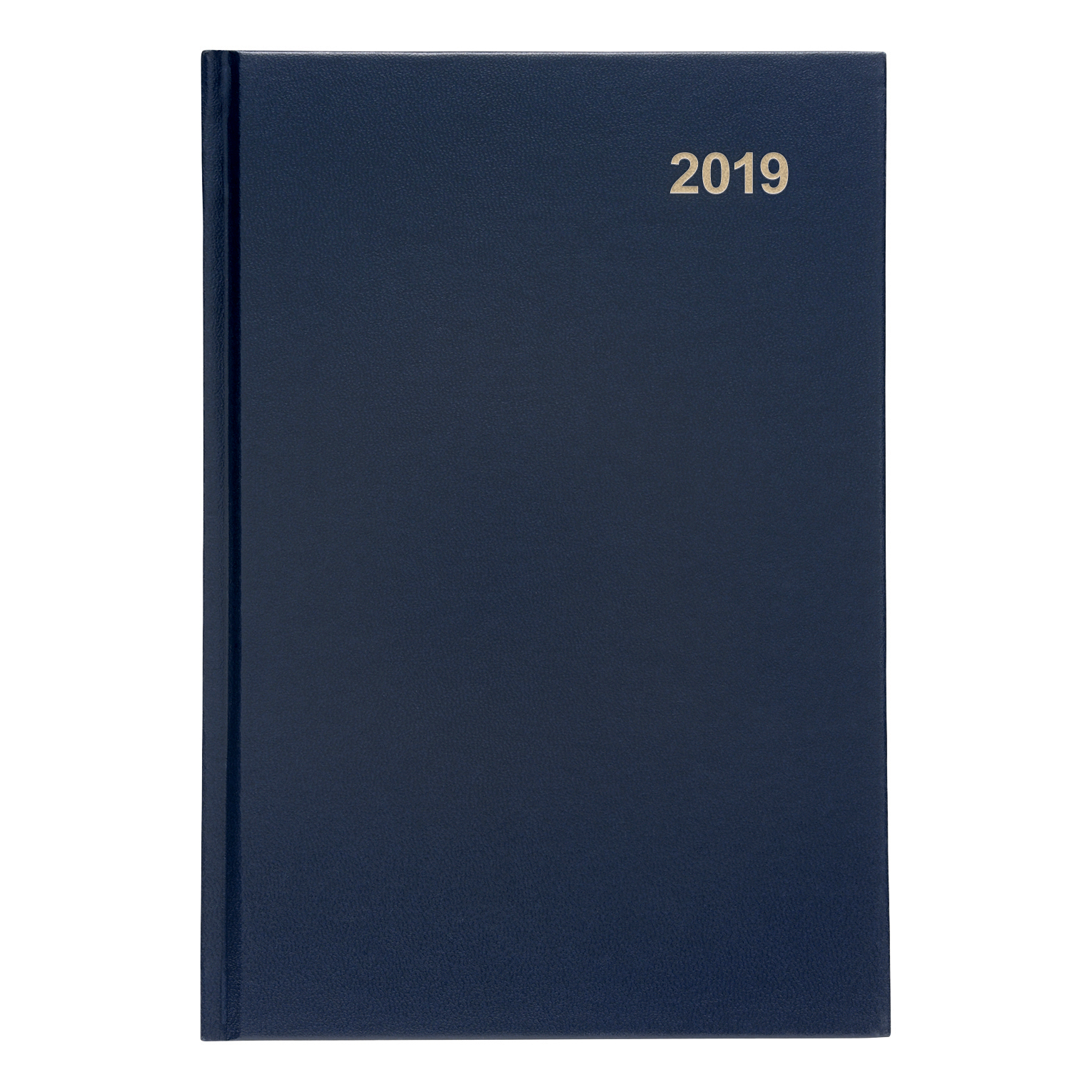 Image for 5 Star Office 2019 Diary Week to View Casebound and Sewn Vinyl Coated Board A5 210x148mm Blue