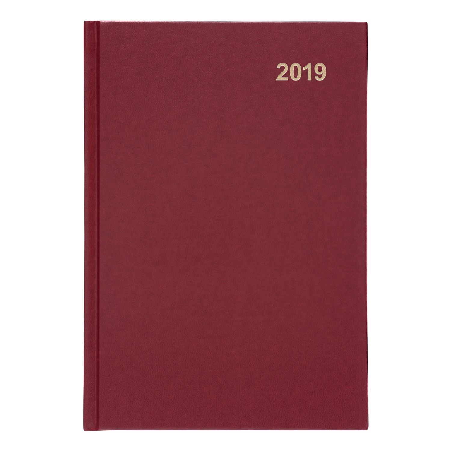 5 Star Office 2019 Diary Week to View Casebound and Sewn Vinyl Coated Board A5 210x148mm Red