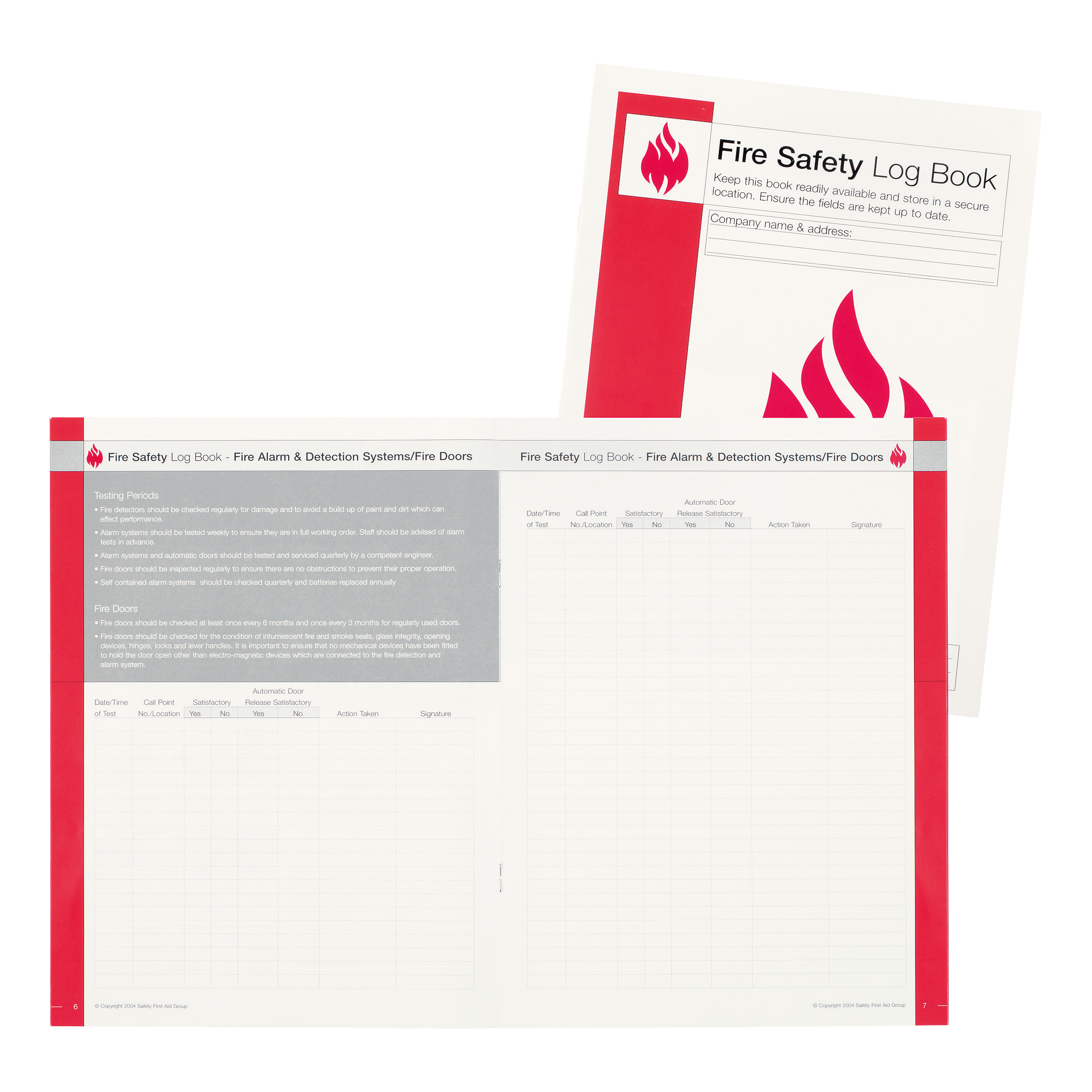 Fire Safety IVG Fire Incidence and Prevention Log Book A4 Ref IVGSFLB