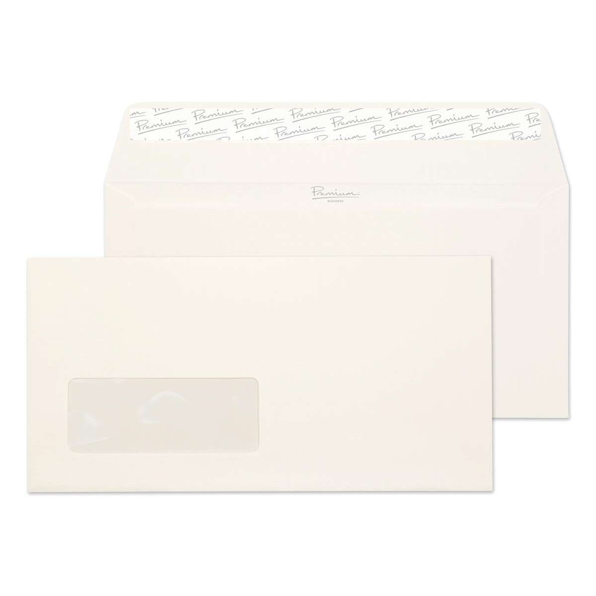 Blake Premium FSC Business Envelopes Wallet Laid Peel & Seal Wdw 120gsm DL Hi White Ref 39884 [Pack 500]