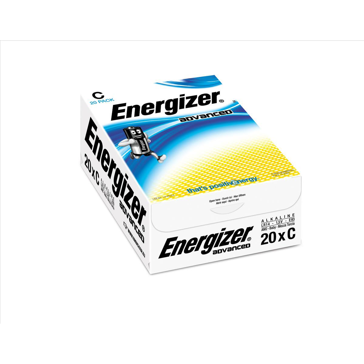 Energizer Eco Advanced Batteries C / E93 Ref E300488100 Pack 20