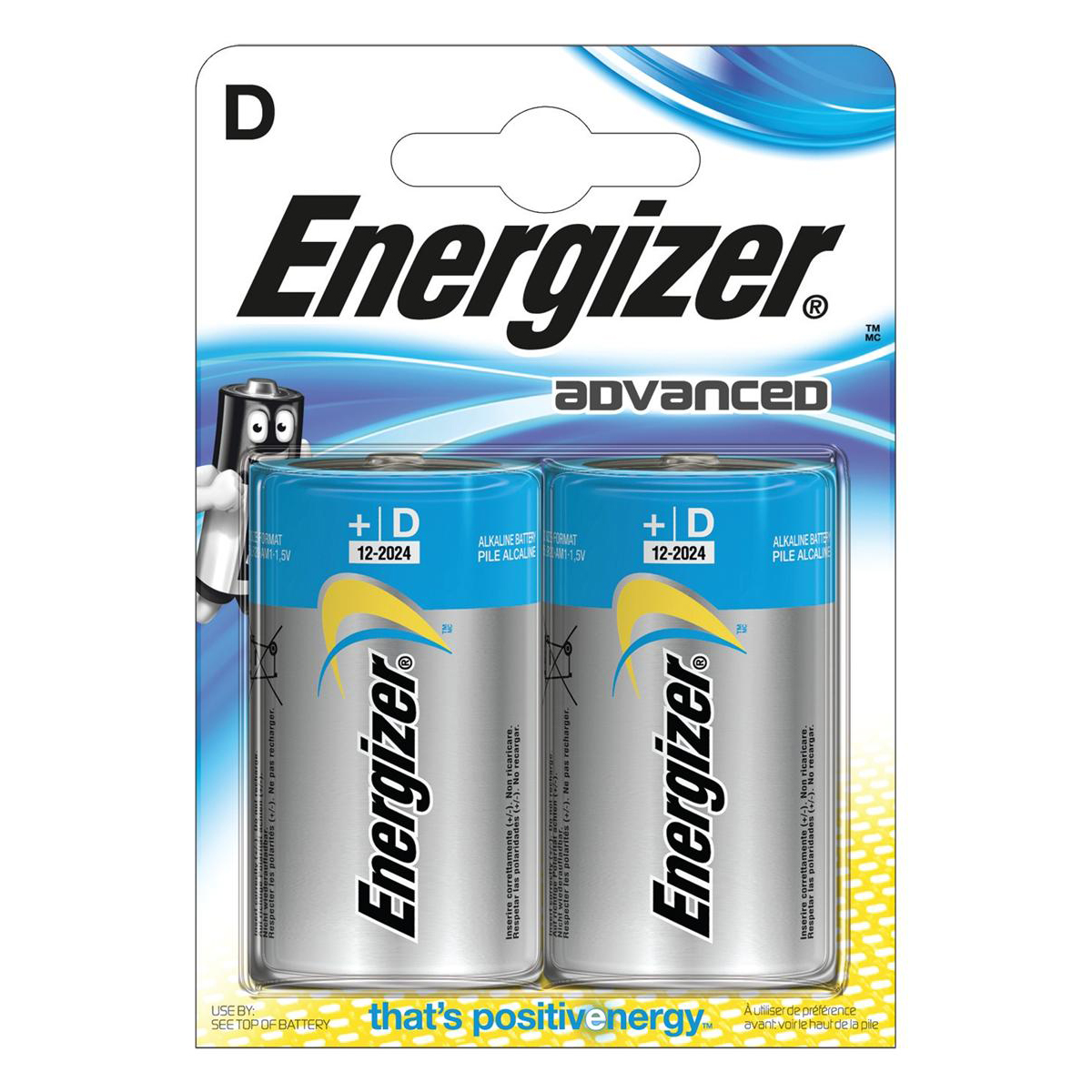 Energizer Eco Advanced Batteries D / E95 Ref E300129700 Pack 2