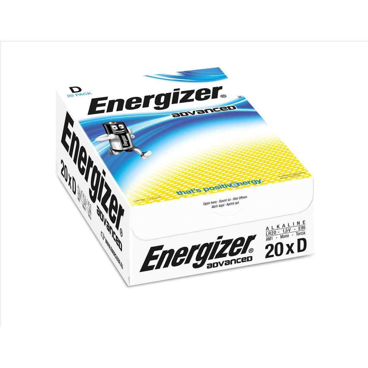 Energizer Eco Advanced Batteries D / E95 Ref E300488200 Pack 20