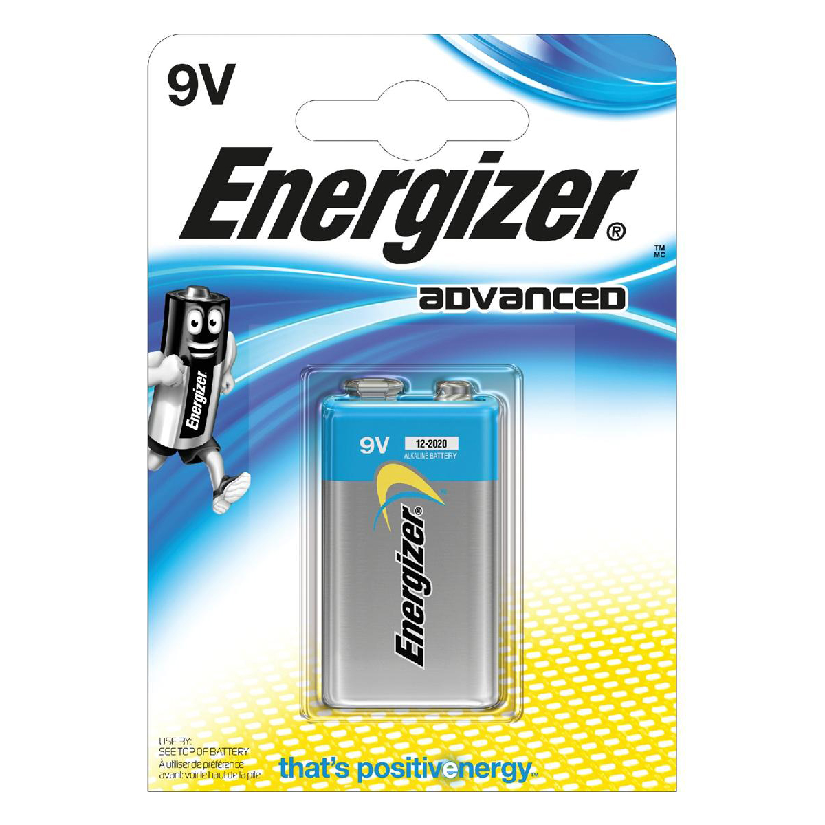 Energizer Eco Advanced Batteries 9V / 522 Ref E300116700