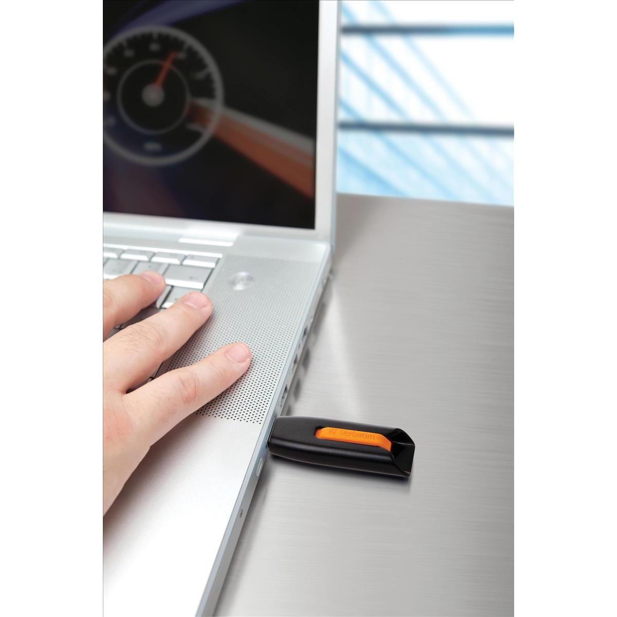 Verbatim Store  n  Go V3 USB 3.0 Drive Black/Grey 64GB Ref 49174