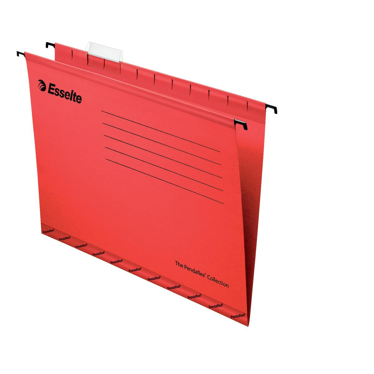 Esselte Classic Reinforced Suspension File Manilla 15mm V-base 210gsm Foolscap Red Ref 90336 Pack 25