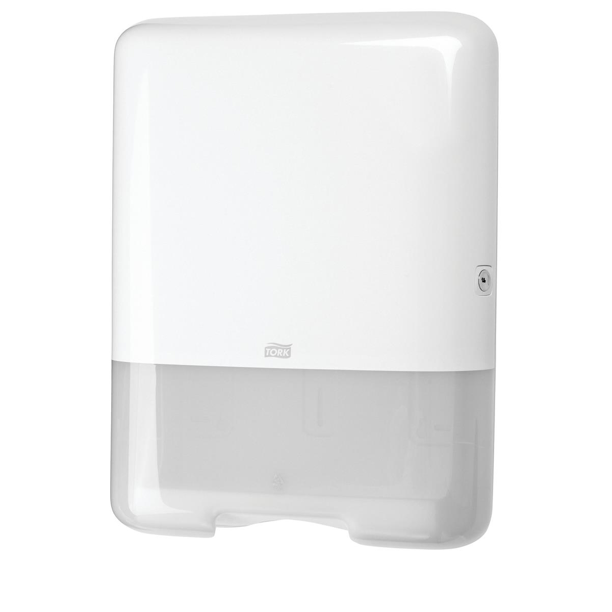 Paper towel dispensers Tork Single Fold C Fold Hand Towel Dispenser W333xD136xH439mm Plastic White Ref 553000