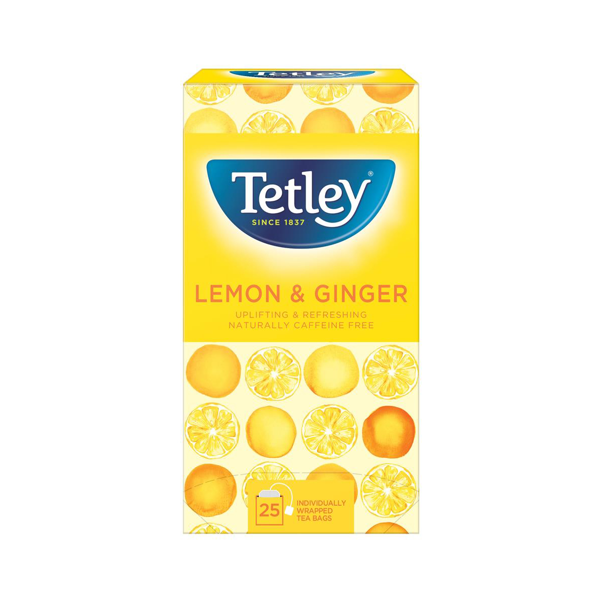 Tetley Tea Bags Green Tea with Lemon/Ginger Ref 1579a [Pack 25]