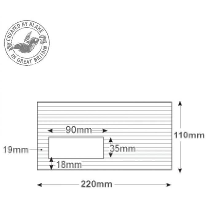 Blake Premium Business Envelopes Wallet Peel and Seal Window 120gsm DL High White Ref 39884 Pack 500