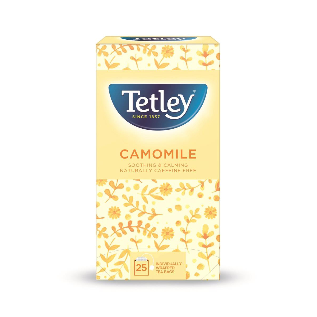 Tetley Individually Enveloped Tea Bags Camomile Smile Individually Wrapped Ref 1287B [Pack 25]