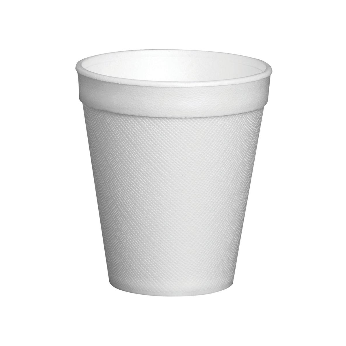 Disposable Cups & Accessories Cup Insulated Foam EPS Polystyrene 7oz 207ml White Ref 7LX6 Pack 25