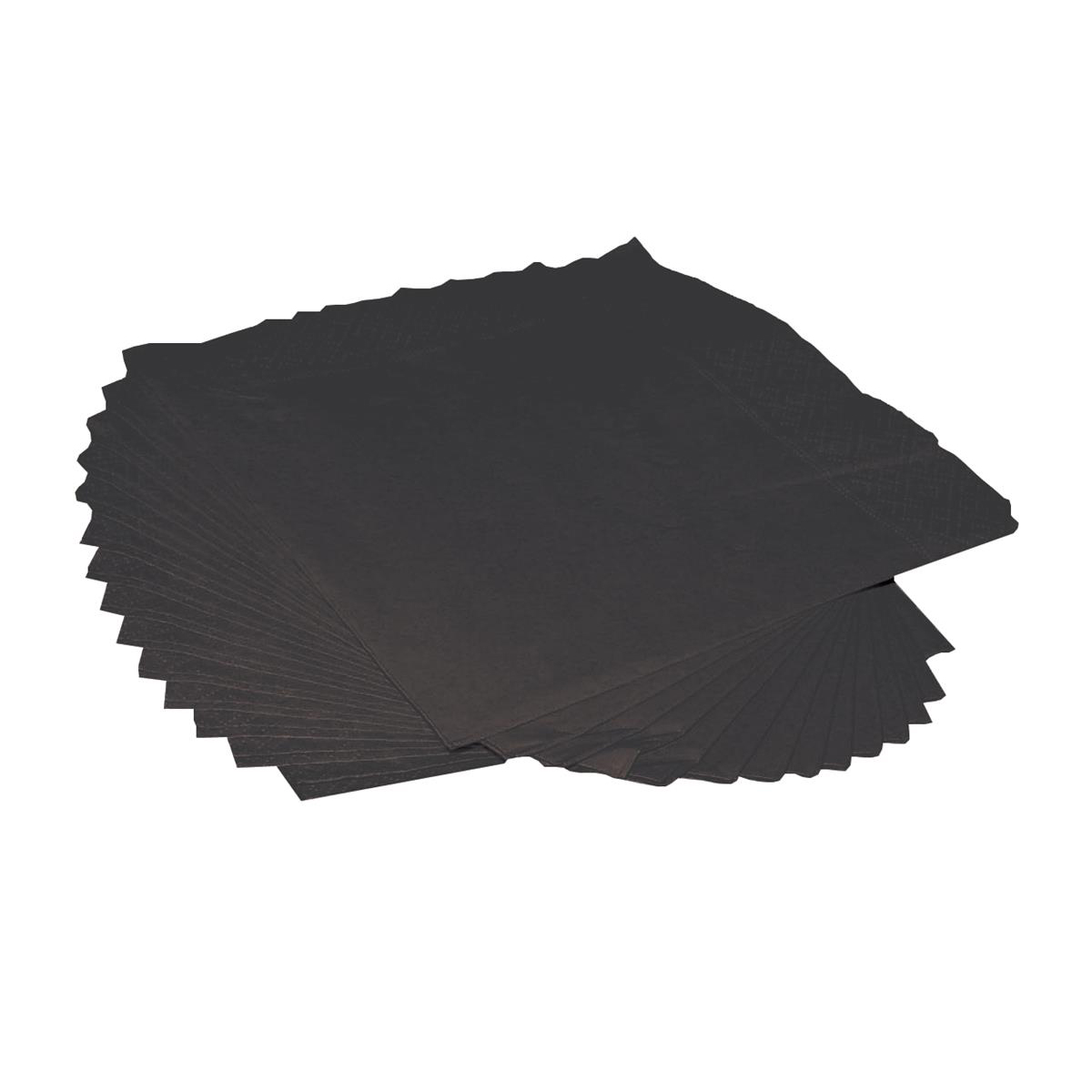 Cocktail Napkins 2-Ply 25cm Square Black Pack 250