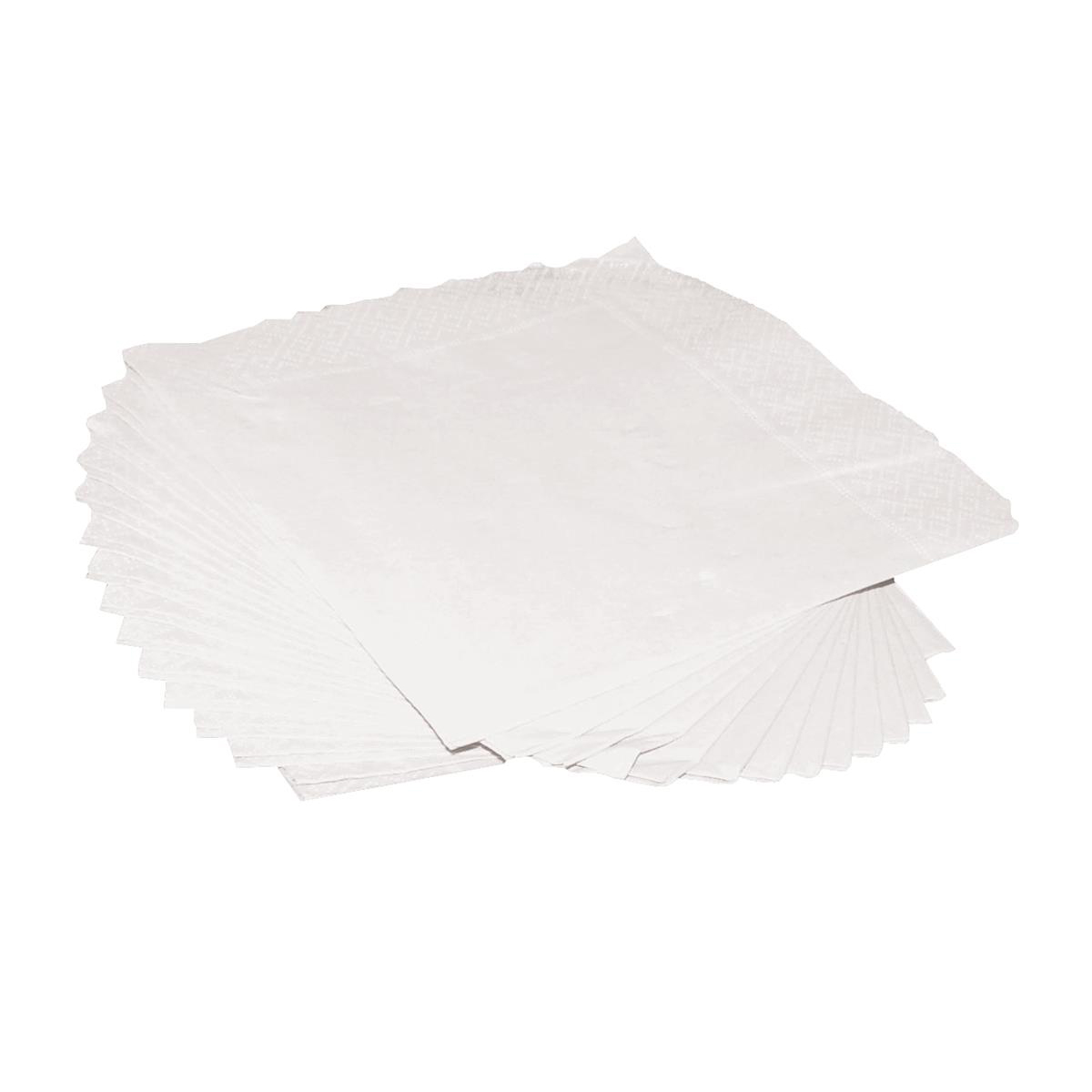 Cocktail Napkins 2-Ply 25cm Square White Pack 250