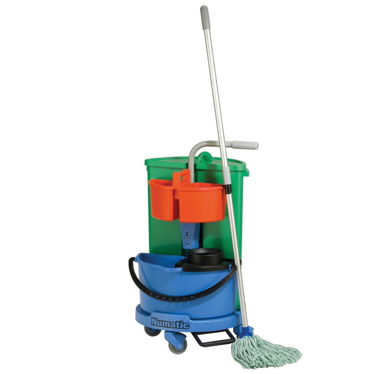 Numatic Janitorial Carousel Trolley with 2 Buckets and Storage W545xD50xH870mm Ref 907439