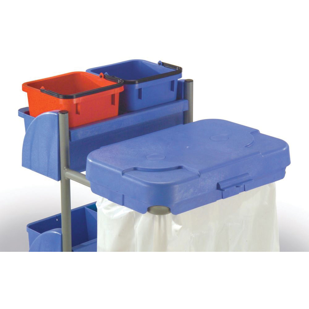 Numatic Xtra-Compact XC-1 Cleaning Trolley with 3 Buckets and 2 Tray Units W570xD840xH1060mm Ref 907440