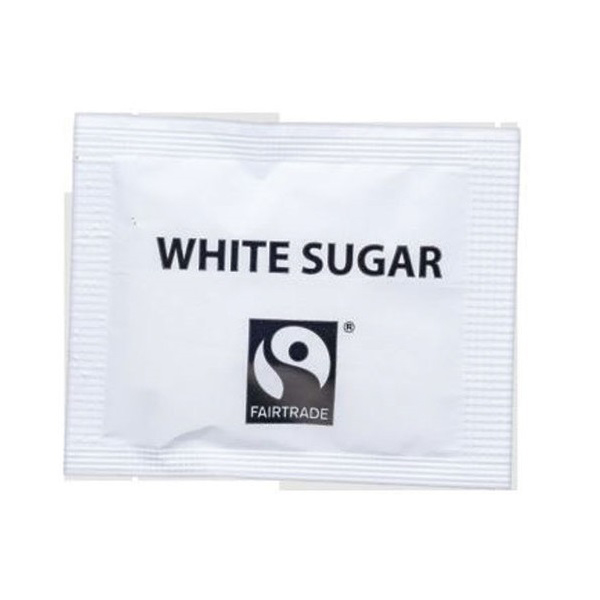 Sugar / Sweetener Fairtrade Sugar Sachets White Ref A07760 Pack 1000