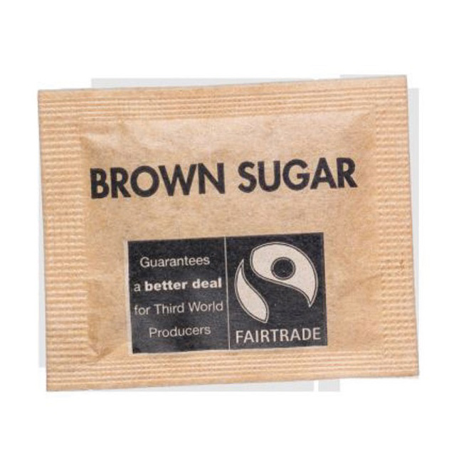 Fairtrade Sugar Sachets Brown Demerara Ref A07761 Pack 1000