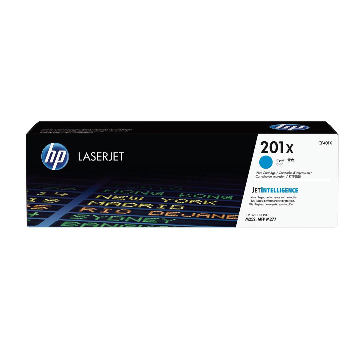 Inkjet Cartridges HP 201X Laserjet Toner Cartridge High Yield Page Life2300pp Cyan Ref CF401X