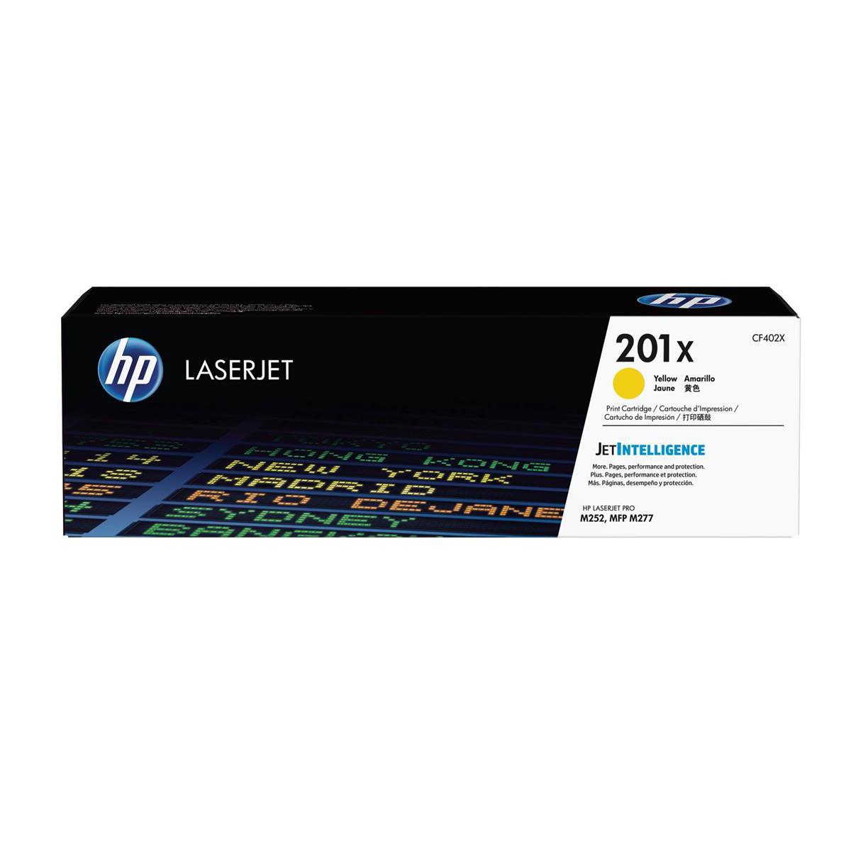 Hewlett Packard [HP] 201X Laserjet Toner Cartridge Yellow High Yield Ref CF402X