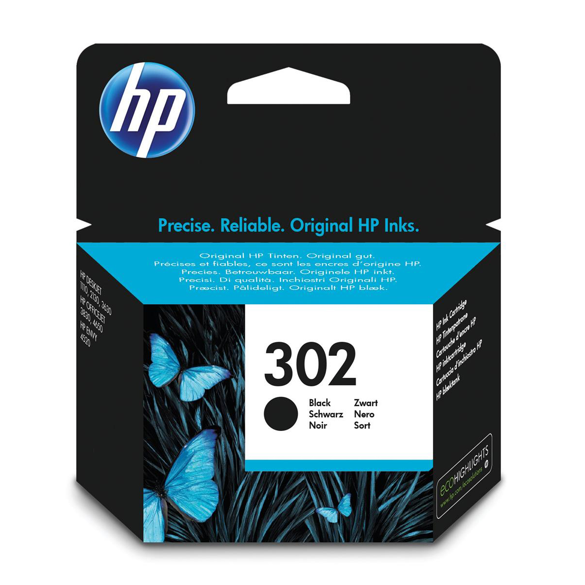 Hewlett Packard [HP] No.302 Inkjet Cartridge Page Life 190pp 3.5ml Black Ref F6U66AE
