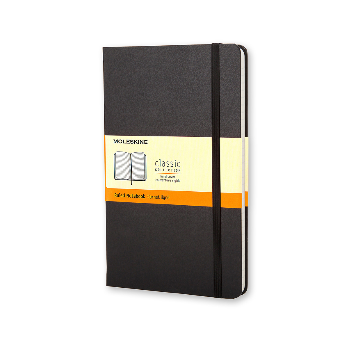Paper pads or notebooks Moleskine Large Ruled Hardcover 240Pg 130x210mm Black Ref QP060