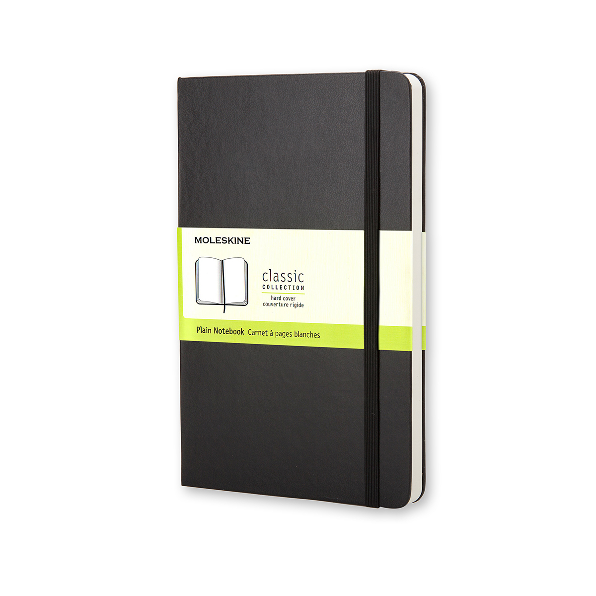 Paper pads or notebooks Moleskine Large Ruled Hardcover 240Pg 130x210mm Plain Black Ref QP062