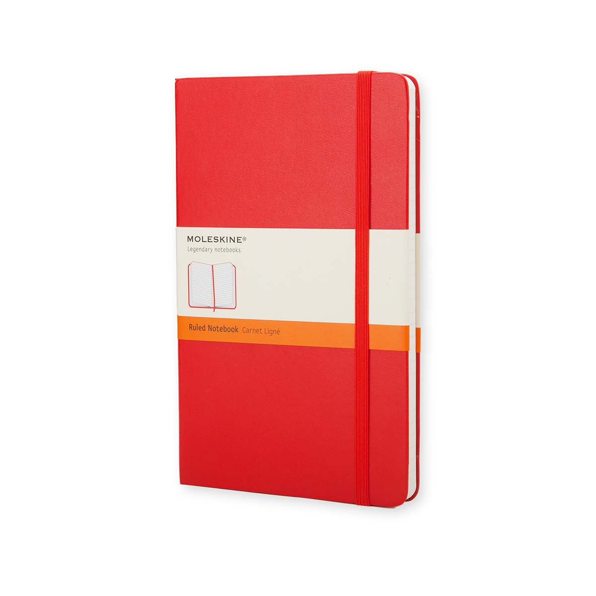 Paper pads or notebooks Moleskine Large Ruled Hardcover 240Pg 130x210mm Scarlet Red Ref QP060R