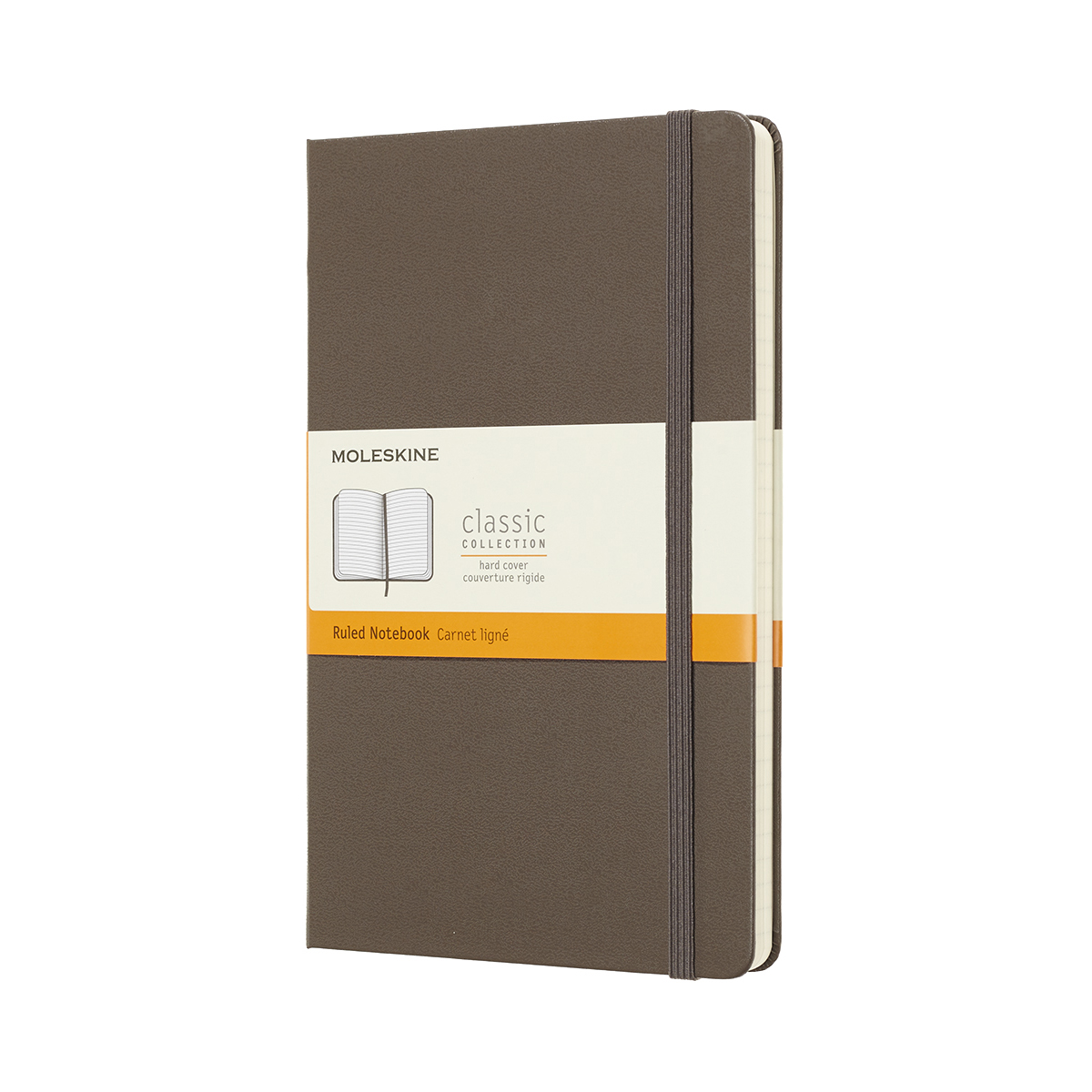 Moleskine Large Ruled Hardcover 240Pg 130x210mm Earthbrown Ref QP060P14