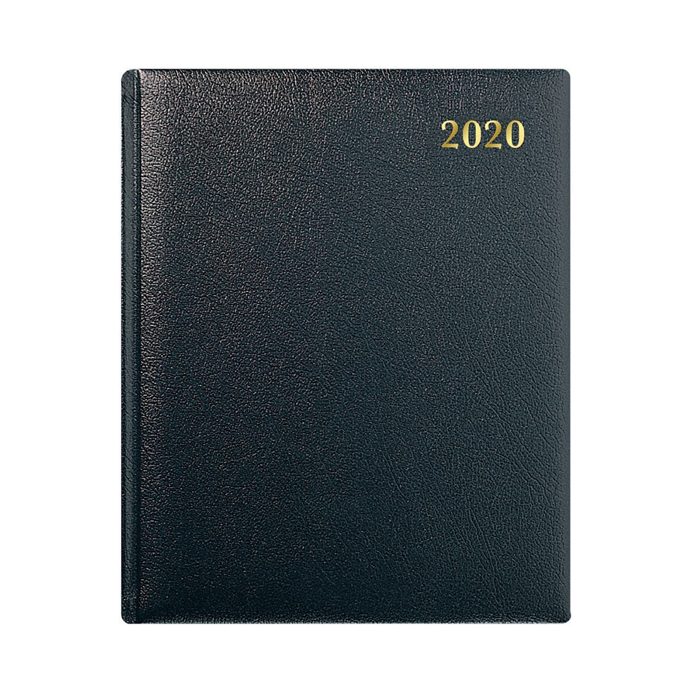 Diaries Collins 2020 Classic Business Quarto Diary Week to View Sewn Binding 190x260mm Black Ref QB7 2020