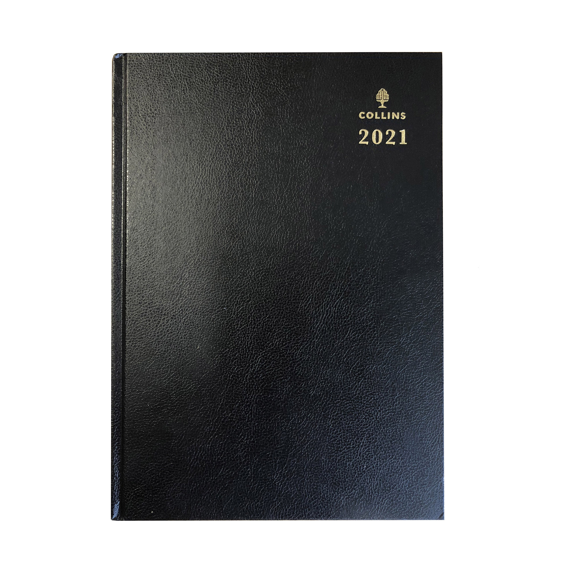 Diaries Collins 2021 Royal Desk Diary Day to Page Sewn Binding A5 210x148mm Black Ref 52 Blk 2021
