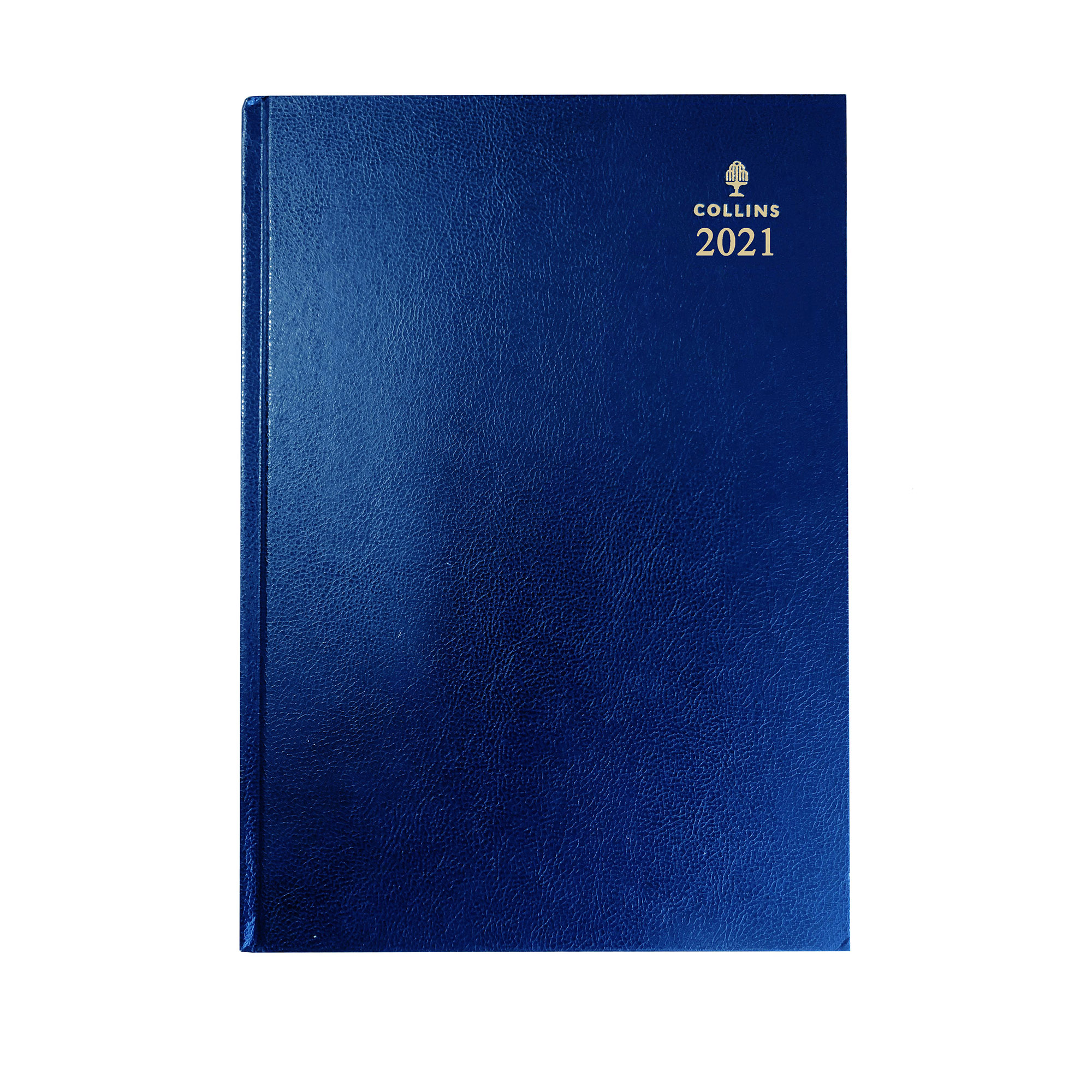 Diaries Collins 2021 Desk Diary Week to View Sewn Binding A4 297x210mm Blue Ref 40 Blue 2021