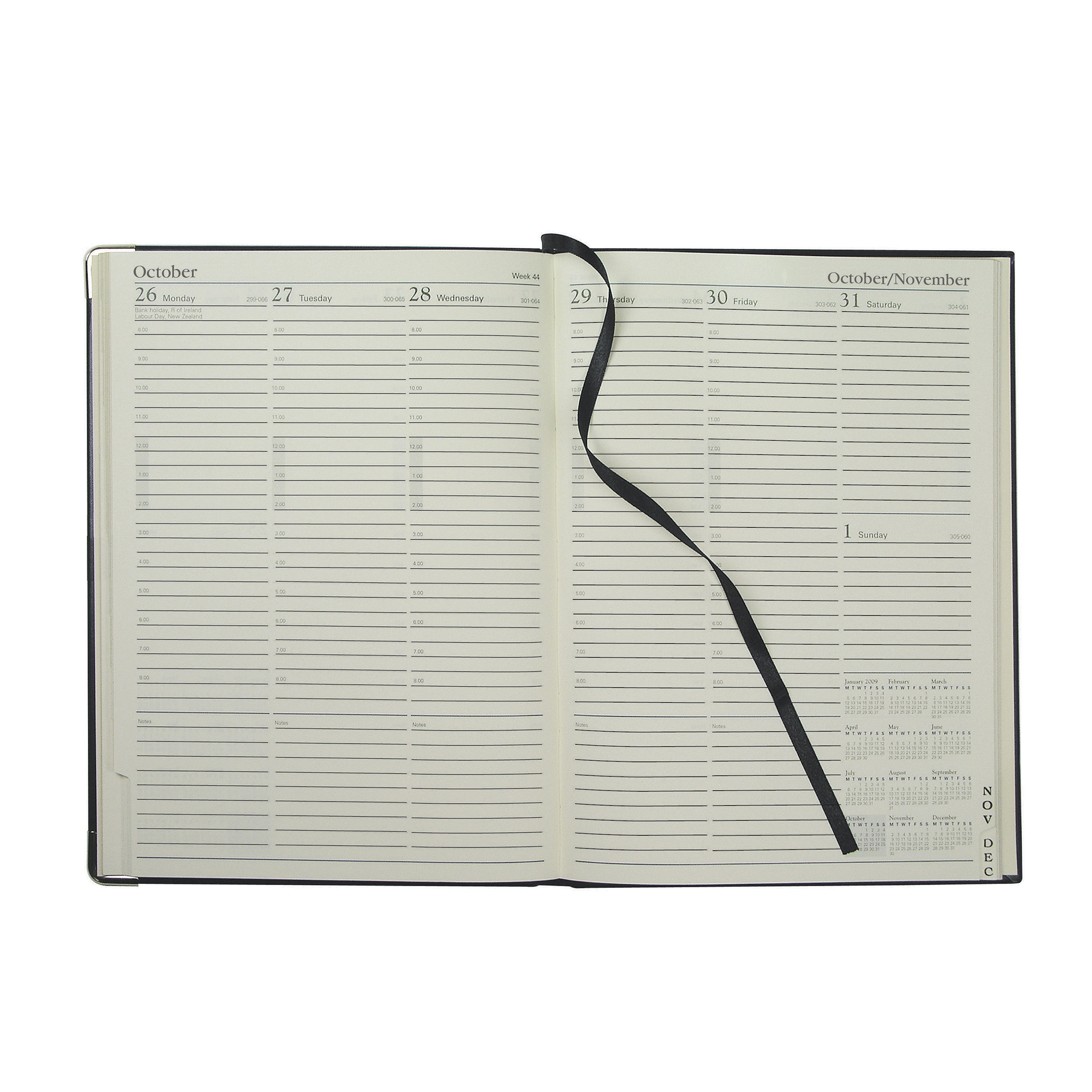 Collins 2020 Classic Compact Diary Week to View Sewn Binding 190x260mm Black Ref 1210V 2020