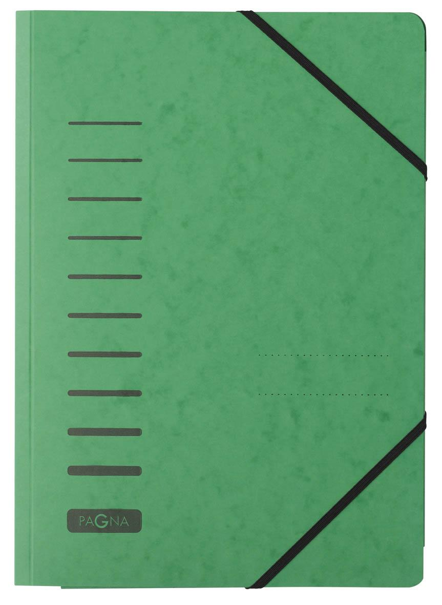 Pagna Classic Folder Elastic Corner Straps Pressboard A4 Green Ref 2400703 [Pack 25]