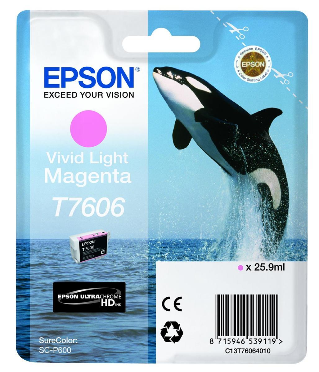 Epson T7606 Ink Cartridge Dolphin 25.9ml Light Magenta Ref C13T76064010