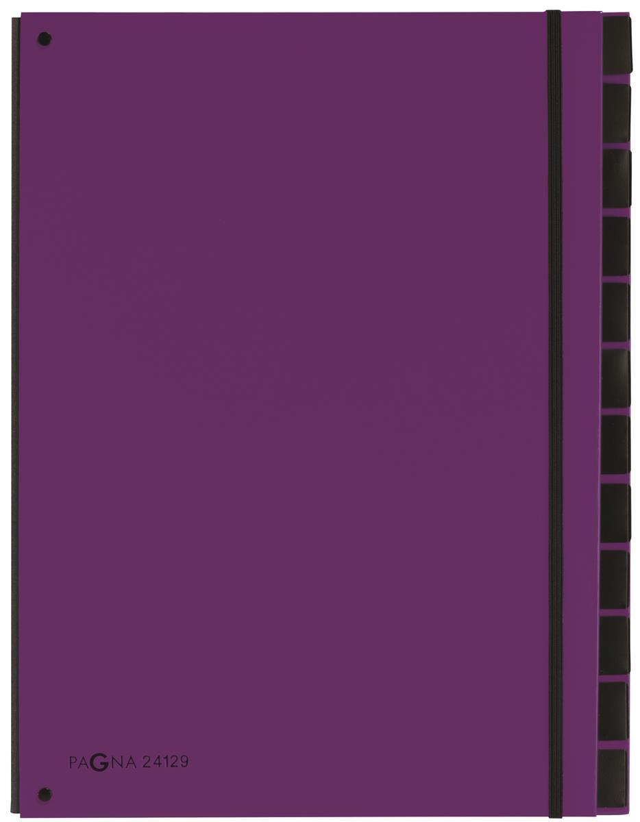 Pagna Master 7 Part Organiser A4 Purple Ref 2412912