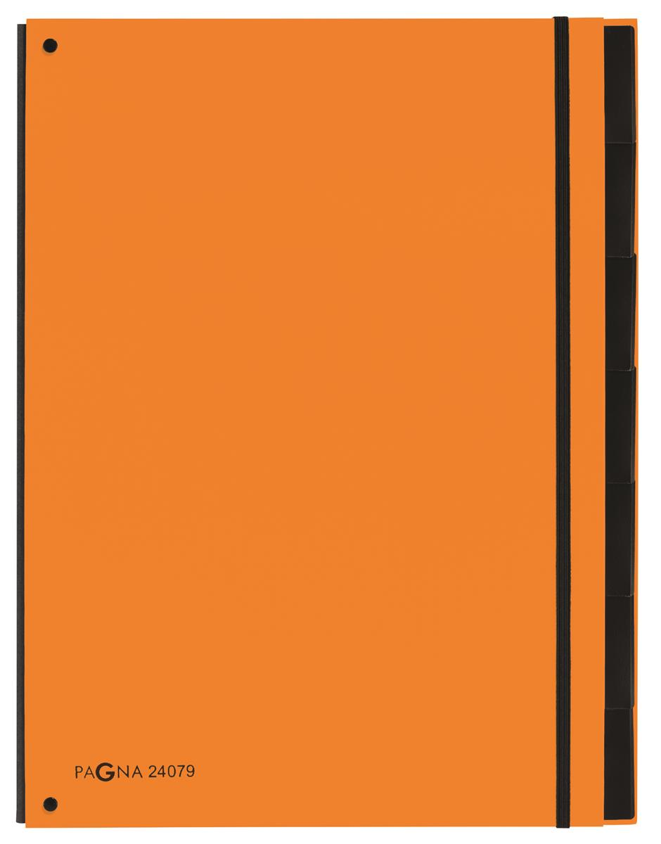 Pagna Master Organiser Hardback 12-compartments Elasticated Strap A4 Orange Ref 2407909 [Pack 8]