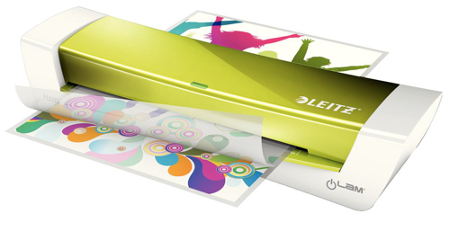 Leitz iLam Home Office Laminator Up To 250 Microns 3mins Warm-up Time A4 Green Ref 73681064