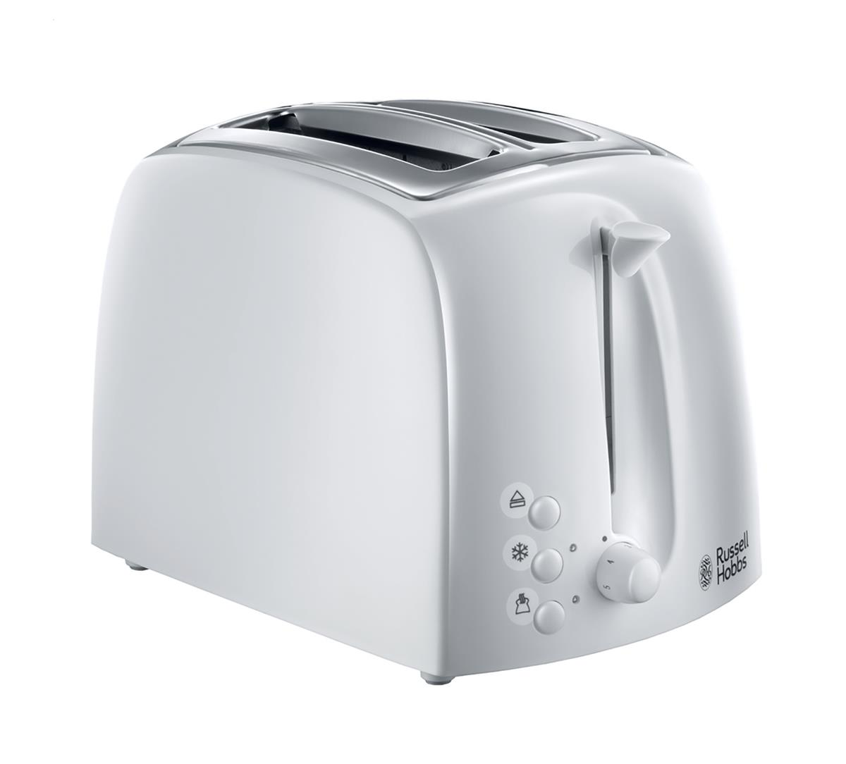 Brabantia Toaster 930W Reheat Defrost Crumb Tray Auto-off White Ref RH2164